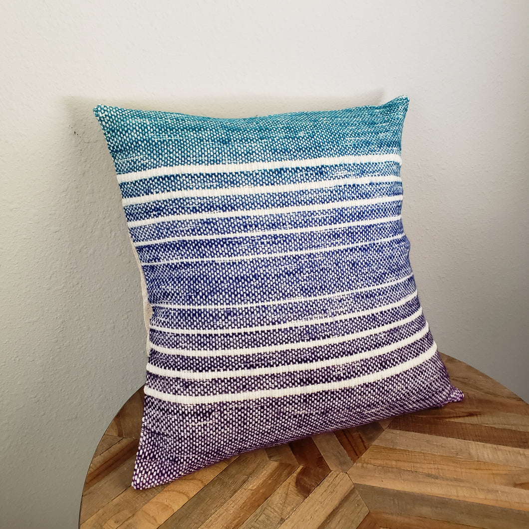 Pillow | Teal Blue Purple | Slip Cover only, 18x18