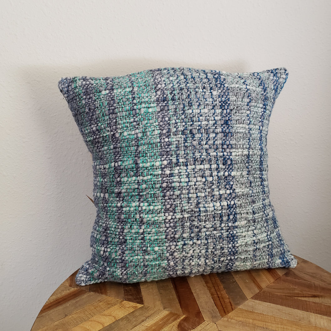 Pillow | Grey Green Blue | Slip Cover only, 18x18