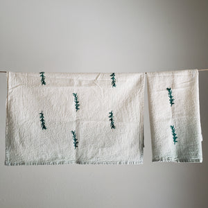 Tea Towel, Set of 2 | Sage Ombre Dyed Herb Print