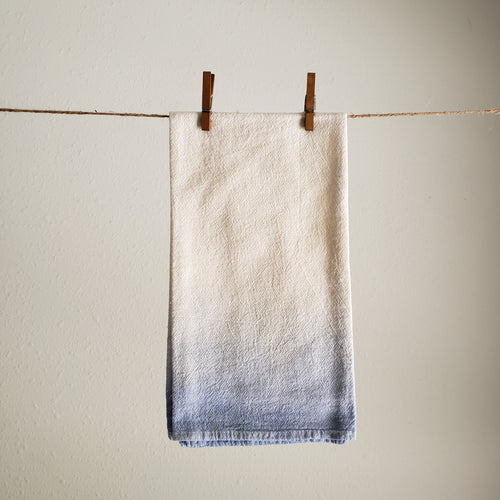 Tea Towel, Single | Blue Ombre Dyed