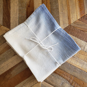 Napkins, Set of 4 | Blue and Sage Ombre Dyed
