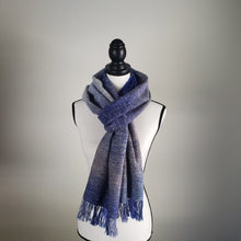 Load image into Gallery viewer, Arctic Waves Half Width | Handwoven Scarf