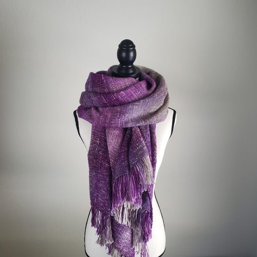 Smoky Mountain Mist | Handwoven Blanket Scarf