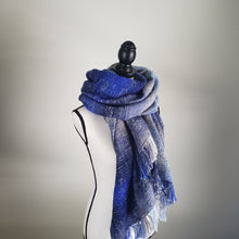 Load image into Gallery viewer, Arctic Waves | Handwoven Blanket Scarf