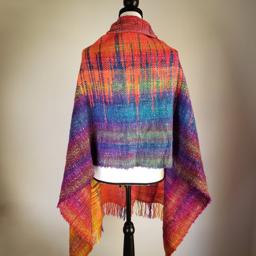 001 Southwest Sunset | Handwoven Blanket Scarf and Shawl