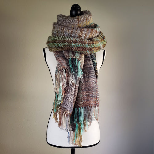 001 Beachgrass | Handwoven Blanket Scarf and Shawl