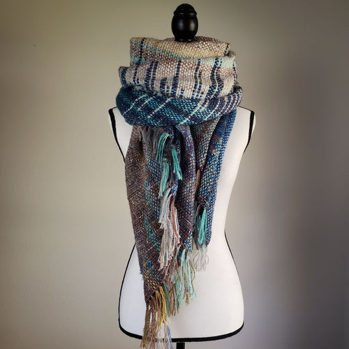 002 Beachgrass | Handwoven Blanket Scarf and Shawl