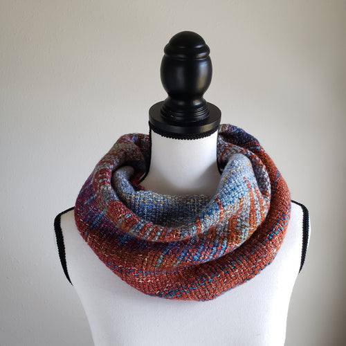 069 Half Cowl | Blue Orange