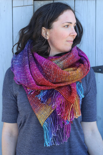 Painted Desert | Handwoven Rainbow Blanket Scarf