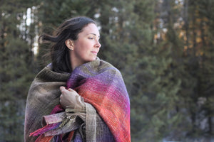Sequoia Sunset | Handwoven Blanket Scarf