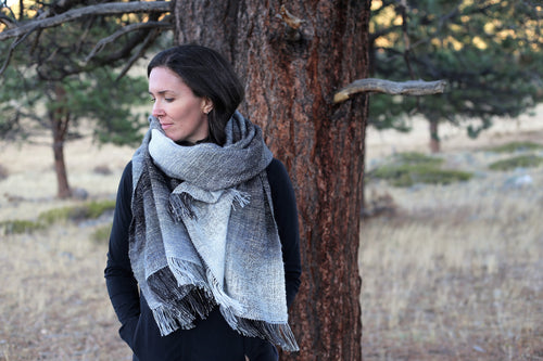 Denali Winter | Handwoven Blanket Scarf