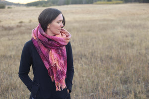 Rocky Mountain Sunset | Handwoven Blanket Scarf