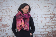 Load image into Gallery viewer, Rocky Mountain Sunset | Handwoven Blanket Scarf
