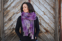 Load image into Gallery viewer, Smoky Mountain Mist | Handwoven Blanket Scarf