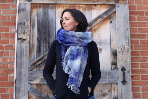 Arctic Waves | Handwoven Blanket Scarf