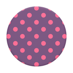BC Awareness - Polka Time Purple, PopSockets