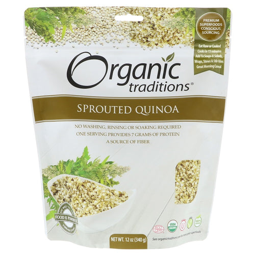 6 x Organic Traditions Sprouted Organic Quinoa 340g