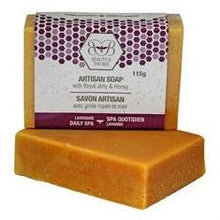 Load image into Gallery viewer, 6 x Pure Beeswax Soap with Royal Jelly & Lavender 115g