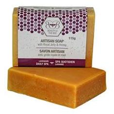 6 x Pure Beeswax Soap with Royal Jelly & Lavender 115g