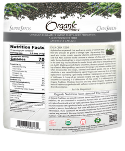 6 x Orangic Traditions Dark Chia Seeds 454g