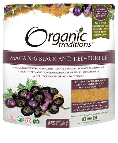 6 x MACA X-6 Black and Red-Purple 150g