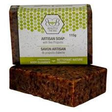 6 x Beeswax Soap with Propolis and Lemongrass 115g