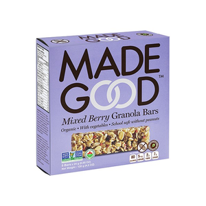 6 x MadeGood Organic Mixed Berry Granola Bars 120g