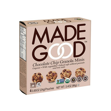 Load image into Gallery viewer, 6 x MadeGood Organic Chocolate Chips Granola Minis 96g