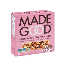 Load image into Gallery viewer, 6 x MadeGood Organic Strawberry Granola Bars 120g