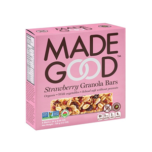 6 x MadeGood Organic Strawberry Granola Bars 120g