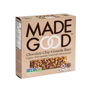 6 x MadeGood Organic Chocolate Chips Granola Bars 120g