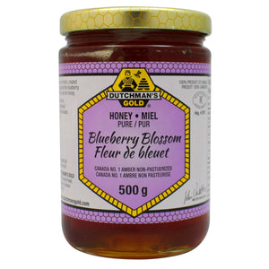 12 x Dutchman's Gold Blueberry Liquid Honey 500g