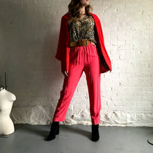 Load image into Gallery viewer, Vintage Hot Pink Rayon Easy Pant