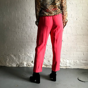 Vintage Hot Pink Rayon Easy Pant