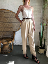 Load image into Gallery viewer, Vintage Silk High Waist Trousers