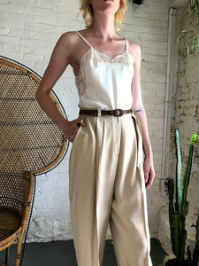 Vintage Silk High Waist Trousers