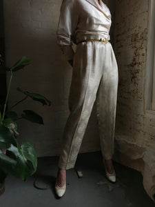 Vintage 1960's Gold Lamé Trousers