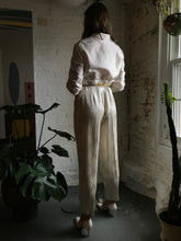 Load image into Gallery viewer, Vintage 1960's Gold Lamé Trousers