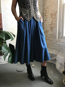 Vintage LL Bean Full Denim Skirt