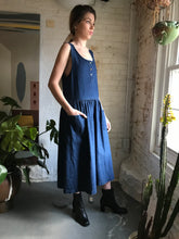 Load image into Gallery viewer, Vintage 1980's Cotton Denim Jumper Dress