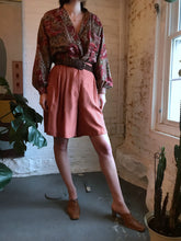 Load image into Gallery viewer, Vintage Blush Orange Silk Shorts