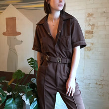 Load image into Gallery viewer, Vintage 1970's Brown Leisure Jumpsuit