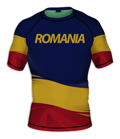 Romania Short Sleeve Rashguard
