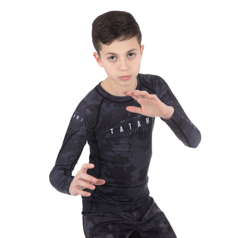 Kids Stealth Long Sleeve Rash Guard