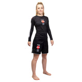 Ladies Bushido Black Long Sleeve Rash Guard