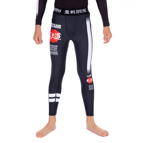 Kids Bushido Black Grappling Spats 24h