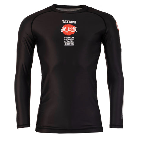 Bushido Black Long Sleeve Rash Guard
