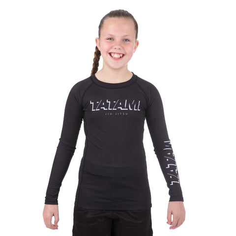 Kids Shadow Long Sleeve Rash Guard