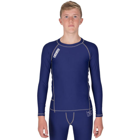 Kids Navy Nova Rash Guard  Tatami Fightwear Ltd. Rash Guard tatamifightwearro.myshopify.com BJJ MALL