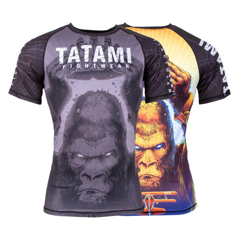 King Kong Short Sleeve Rash Guard  Tatami Fightwear Ltd. Rash Guard tatamifightwearro.myshopify.com BJJ MALL